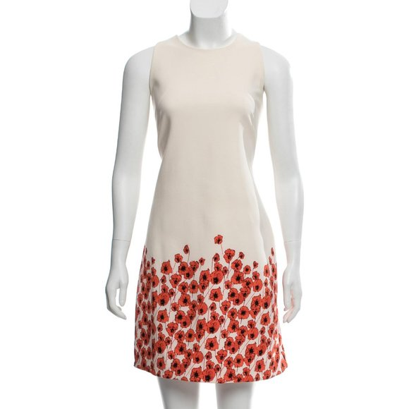 NEIMAN MARCUS Poppy Print A-Line Dress Size: M